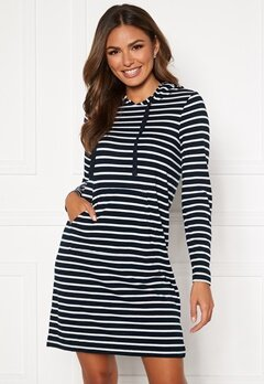 Happy Holly Camila striped tricot hood Dark blue / Striped Bubbleroom.no