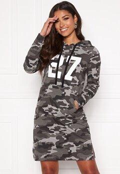 Happy Holly Camila tricot hood Grey melange / Camouflage Bubbleroom.no