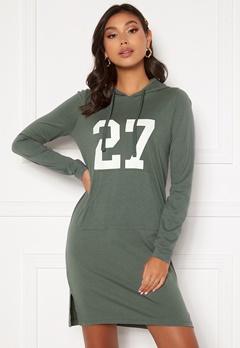 Happy Holly Camila tricot hood Khaki green Bubbleroom.no