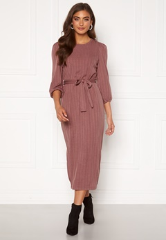 Happy Holly Caroline rib dress Dark dusty pink Bubbleroom.no