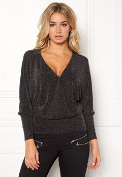 Happy Holly Caroline top Black / Silver Bubbleroom.no