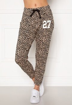 Happy Holly Carolyn pants White / Leopard / Black Bubbleroom.no