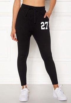 Happy Holly Carolyn tricot pants Black Bubbleroom.no