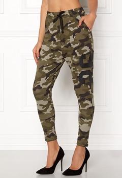 Happy Holly Carolyn tricot pants Camouflage Bubbleroom.no