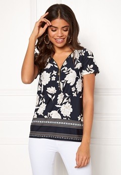 Happy Holly Carrie top Patterned / Dark blue Bubbleroom.no