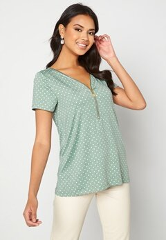 Happy Holly Carrie top Light mint / Offwhite bubbleroom.no