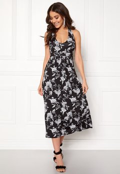 Happy Holly Cathrine halter dress Black / Offwhite Bubbleroom.no