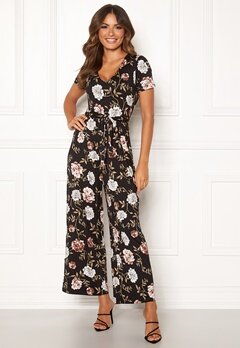 Happy Holly Celine Jumpsuit Black / Patterned Bubbleroom.no