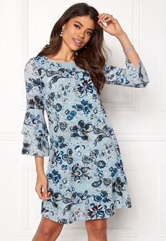 Happy Holly Charlene dress Medium blue / Patterned Bubbleroom.no