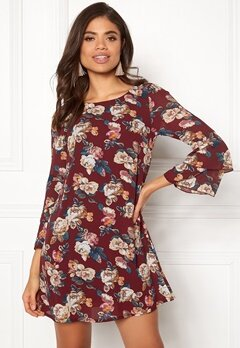 Happy Holly Charlene dress Wine-red / Patterned Bubbleroom.no