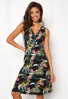 Happy Holly Charlot dress Black / Patterned Bubbleroom.no