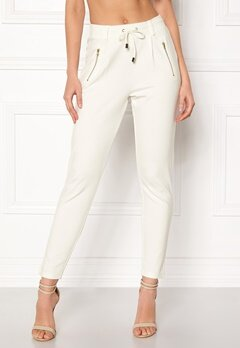 Happy Holly Cleo Trousers Light offwhite Bubbleroom.no