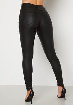 Happy Holly Daniella coated pants  Black Bubbleroom.no