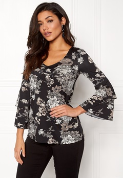 Happy Holly Darlene top Black / Patterned Bubbleroom.no