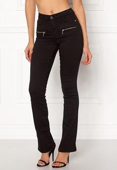 Happy Holly Debra bootcut jeans Black Bubbleroom.no