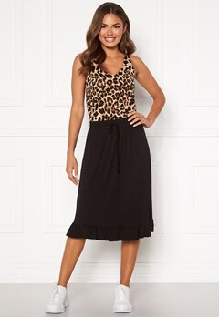 Happy Holly Desiree frill skirt Black Bubbleroom.no