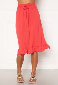 Happy Holly Desiree frill skirt Red Bubbleroom.no