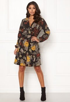 Happy Holly Dolores dress Black / Patterned Bubbleroom.no