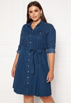 Happy Holly Doris denim dress Dark denim Bubbleroom.no