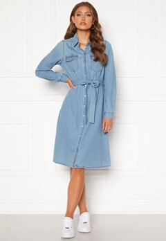 Happy Holly Doris denim dress Light denim Bubbleroom.no