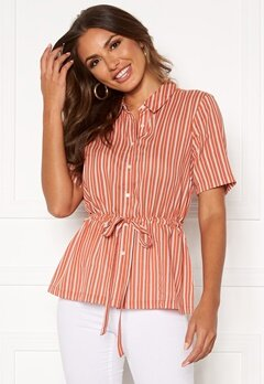 Happy Holly Ebba shirt blouse Coral / Striped Bubbleroom.no