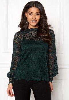Happy Holly Edda lace top Dark green Bubbleroom.no