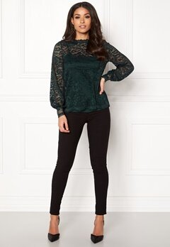 Happy Holly Edda lace top Dark green Bubbleroom.no