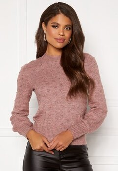 Happy Holly Edith knitted sweater Dusty pink / Melange Bubbleroom.no