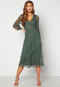 Happy Holly Elin mesh dress Green Bubbleroom.no
