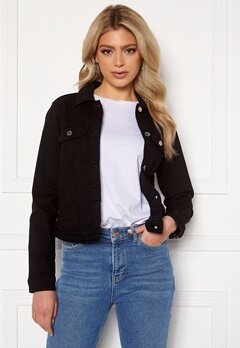 Happy Holly Elina denim jacket Black Bubbleroom.no