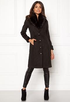 Happy Holly Elisa coat Black Bubbleroom.no