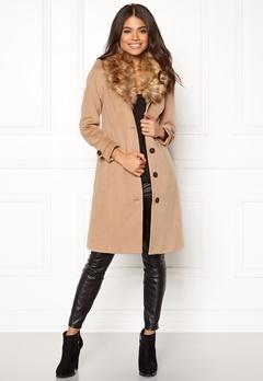 Happy Holly Elisa coat Camel Bubbleroom.no