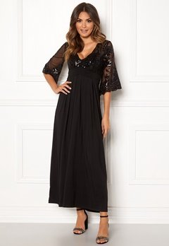 Happy Holly Elise maxi dress Black Bubbleroom.no