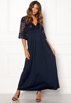 Happy Holly Elise maxi dress Dark blue Bubbleroom.no
