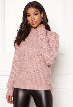 Happy Holly Eliza button sweater Powder pink Bubbleroom.no