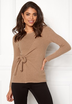 Happy Holly Elizabella sweater Beige melange Bubbleroom.no