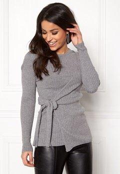 Happy Holly Elizabella sweater Dark grey melange Bubbleroom.no