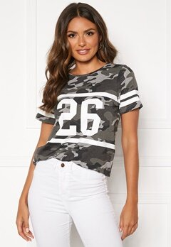 Happy Holly Ellen tee Grey melange / Camouflage Bubbleroom.no