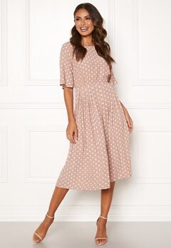Happy Holly Eloise pleated dress Dotted Bubbleroom.no