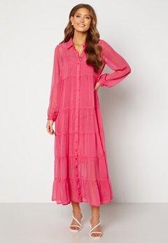 Happy Holly Elsie Maxi Dress  Cerise Bubbleroom.no