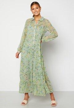 Happy Holly Elsie Maxi Dress  Green / Floral Bubbleroom.no