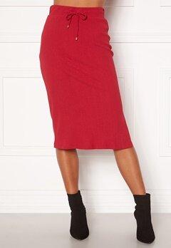 Happy Holly Emilia midi skirt Dark red bubbleroom.no