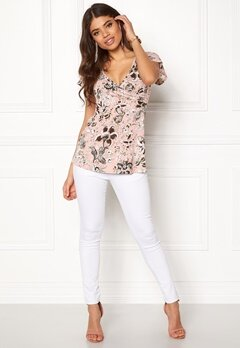 Happy Holly Emilia top Pink / Patterned Bubbleroom.no
