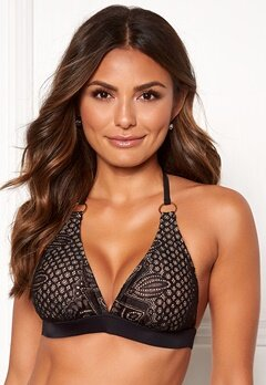 Happy Holly Emma lace bikini bra Black / Beige Bubbleroom.no