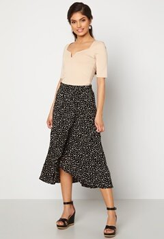 Happy Holly Emma skirt Black / Offwhite bubbleroom.no