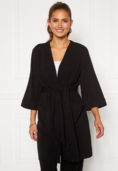 Happy Holly Estelle long kimono Black Bubbleroom.no