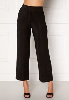 Happy Holly Estelle lurex pants Black Bubbleroom.no