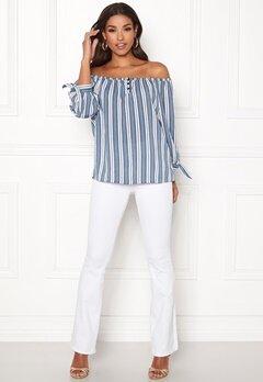 Happy Holly Fanny blouse Striped Bubbleroom.no