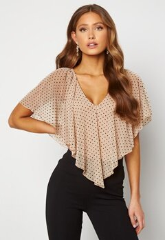 Happy Holly Fanny top Light beige / Dotted Bubbleroom.no