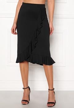 Happy Holly Farah midi skirt Black Bubbleroom.no